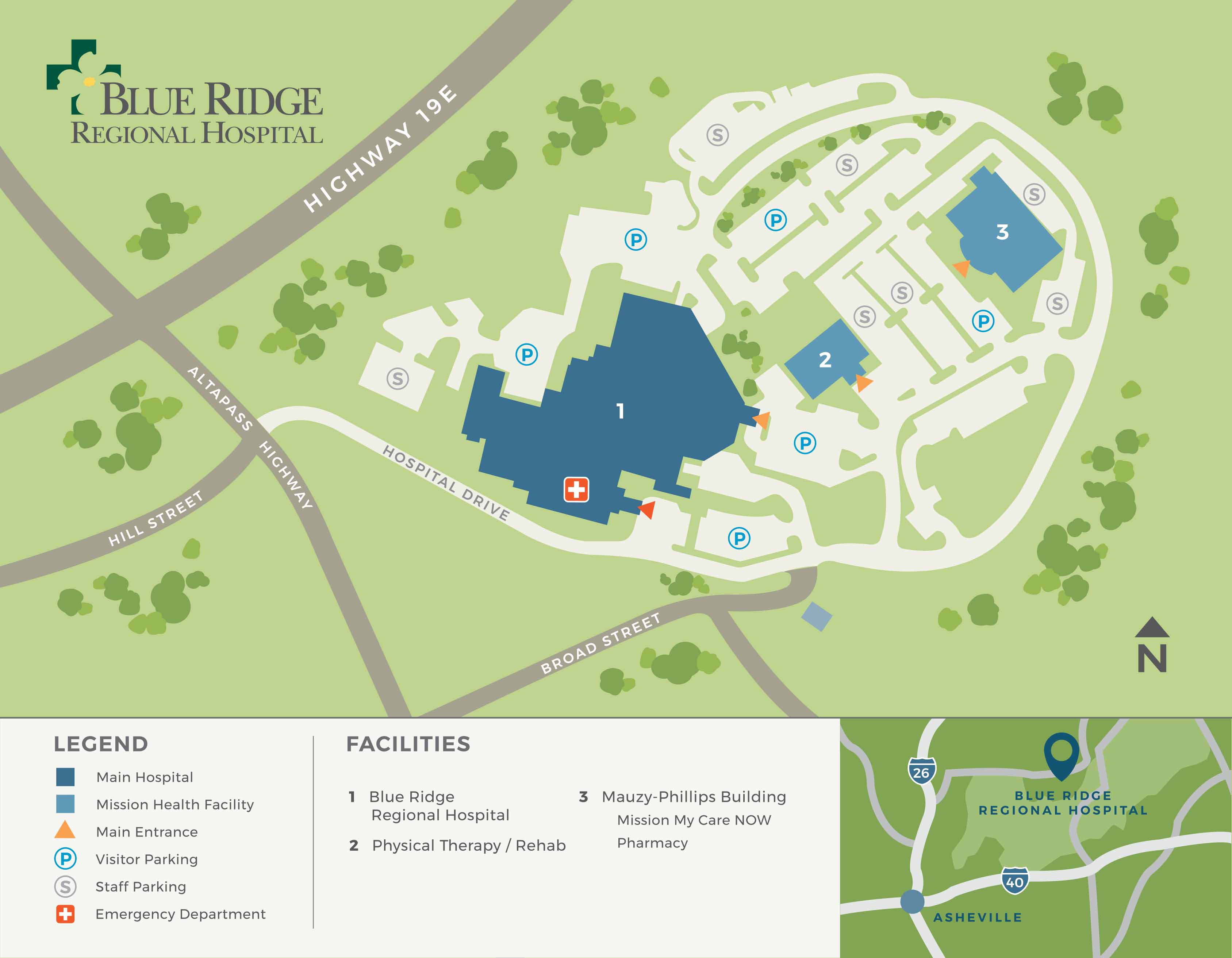 Blue Ridge Campus Map