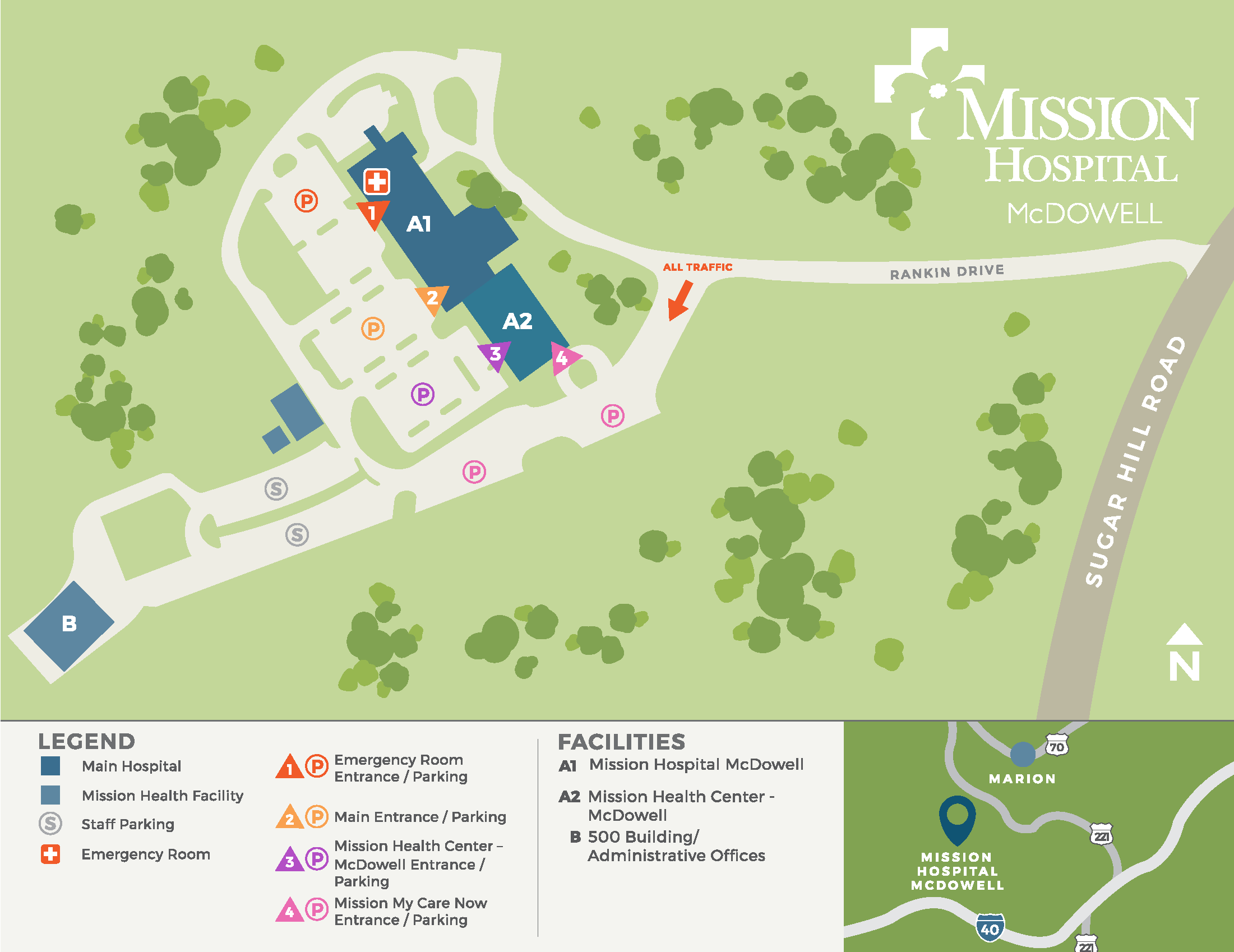 Parking & Campus Map   Mission Health on