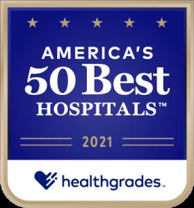 Healthgrades America's 50 Best Hospitals 2021 logo