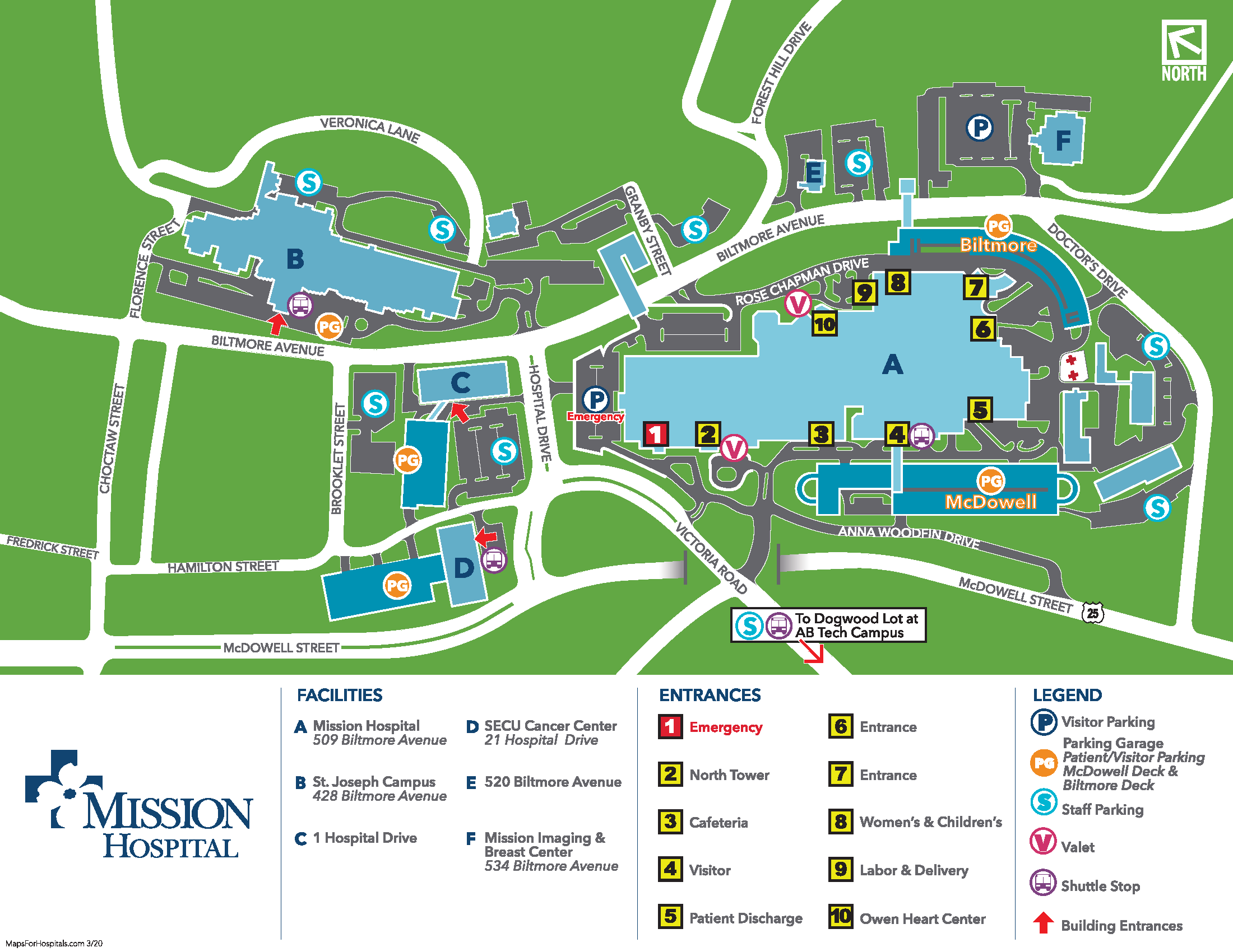 Mission Health Parking Map