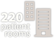220 patient rooms