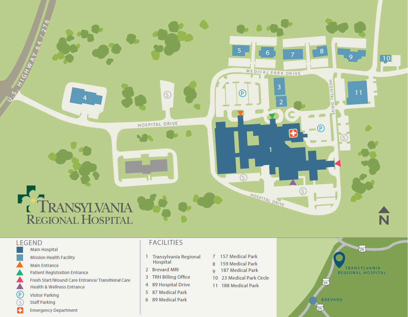 Parking & Campus Map | Mission Health
