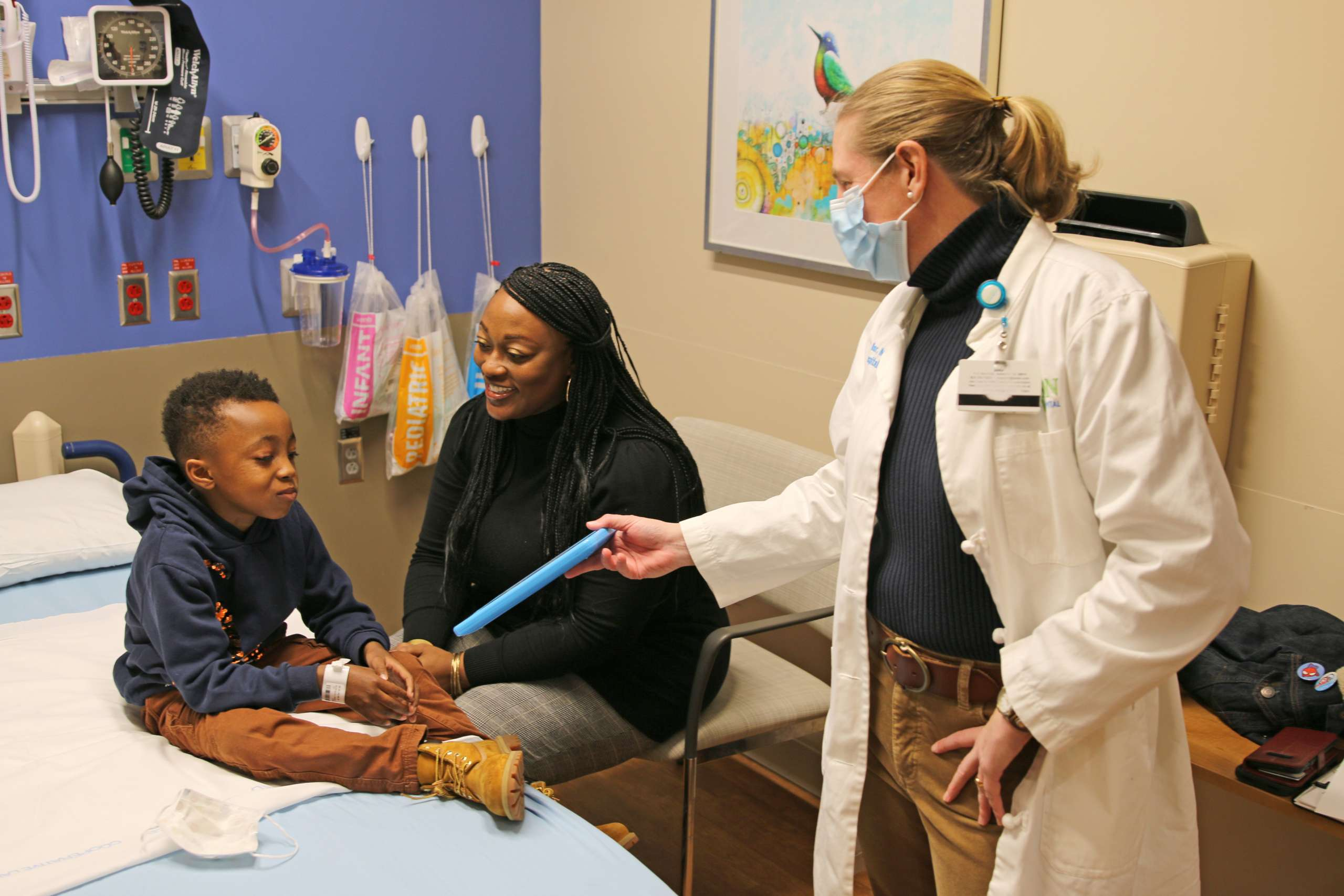 Family at the Pediatric ER