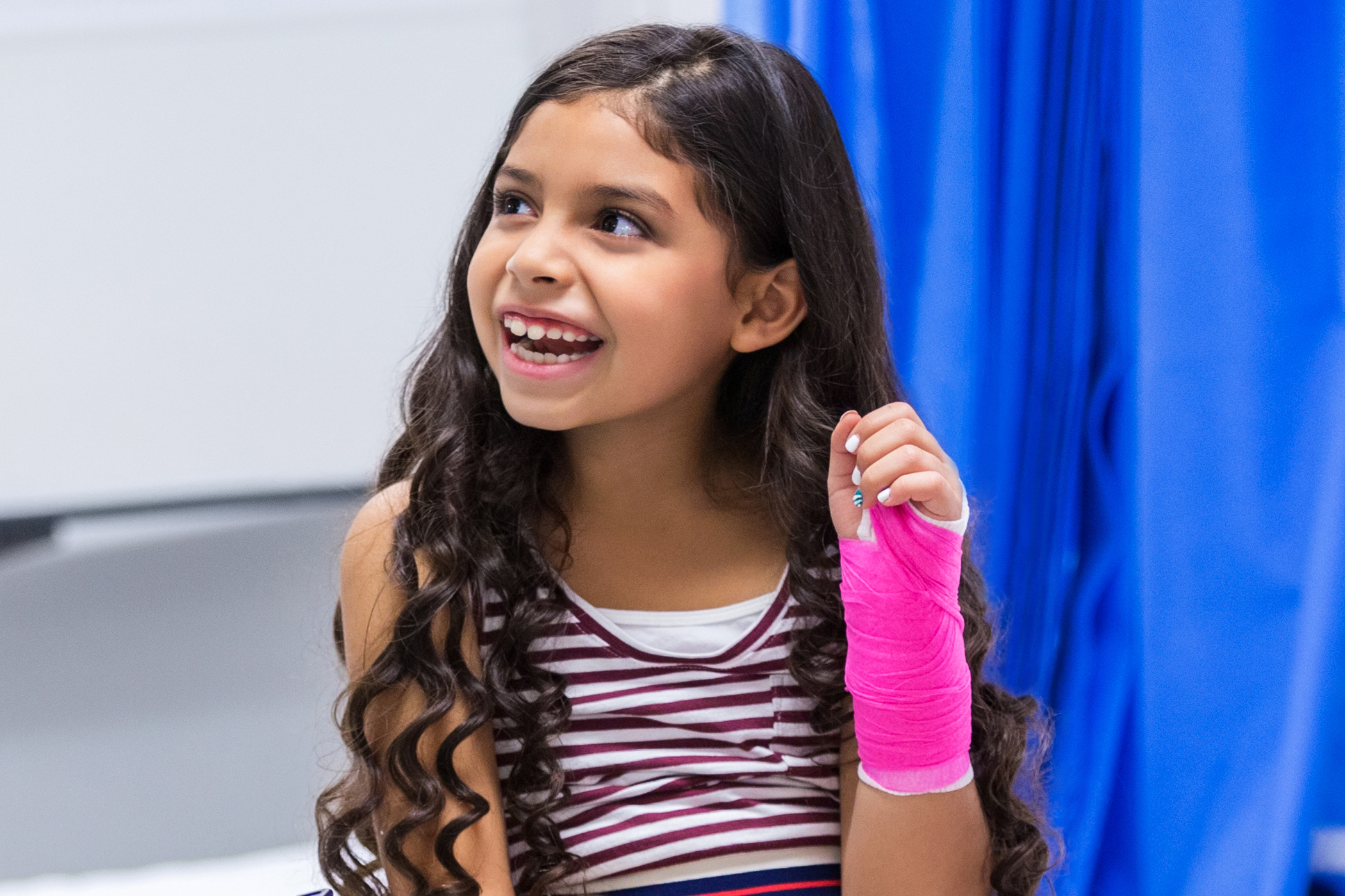 Young Girl in Pink Cast